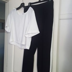 Black and white outfit. Size Medium